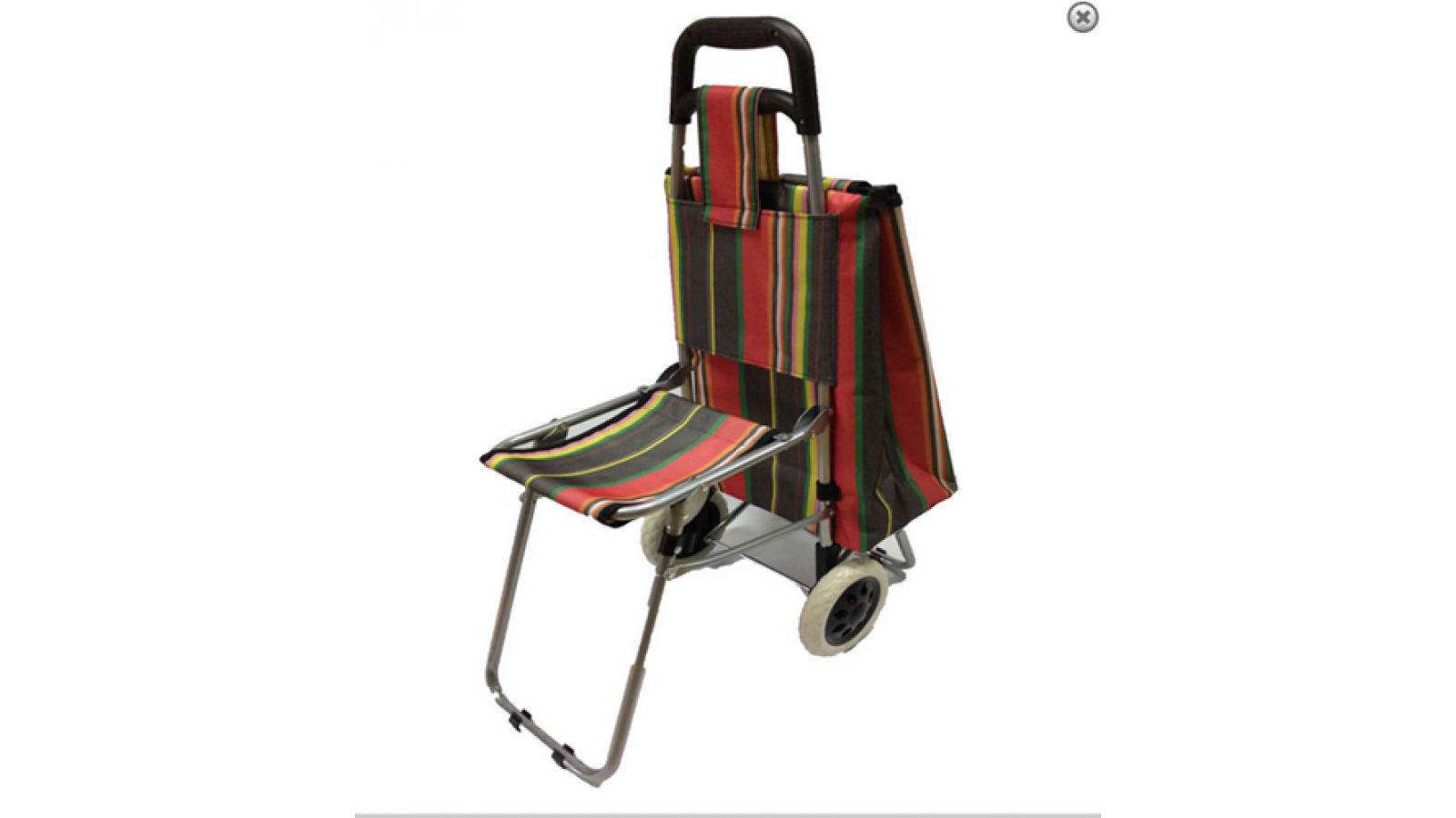 Carro de feria super práctico con silla !!!