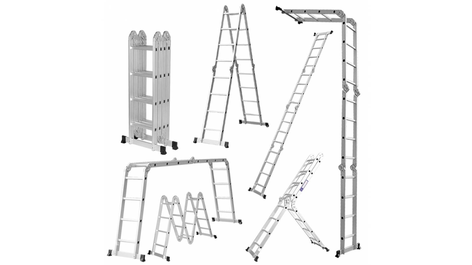 Escalera 4,60 m Multifuncion Combinada en aluminio - 16 Escalones