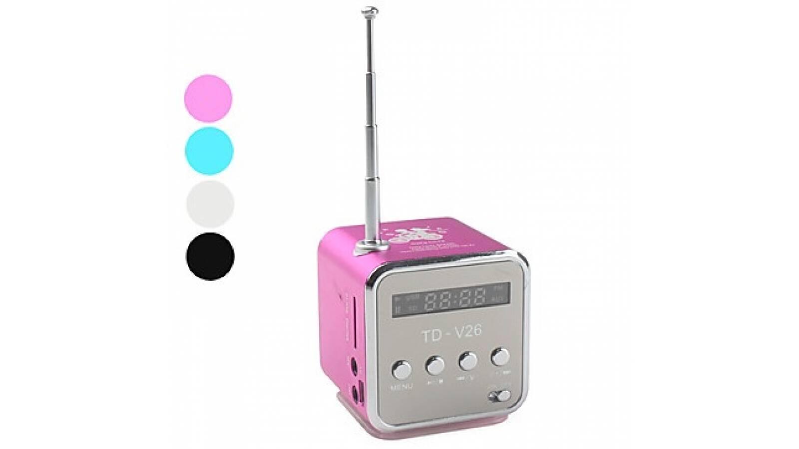 Radio cubo con FM tarjeta SD y MP3