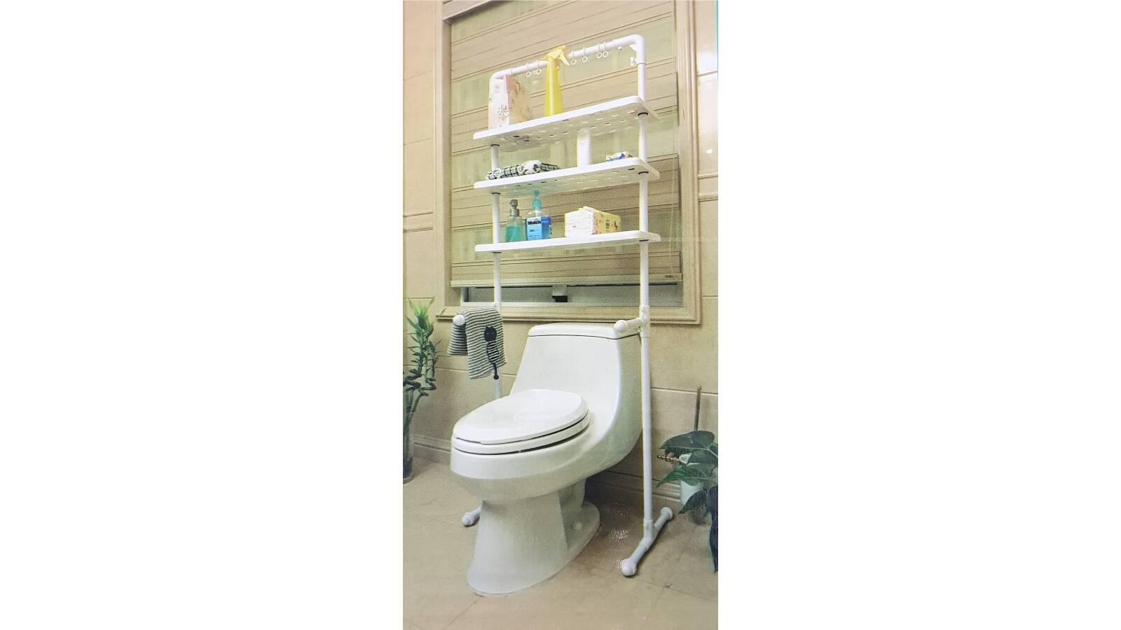 Estanteria sobre inodoro WC - mueble rack estantes baño
