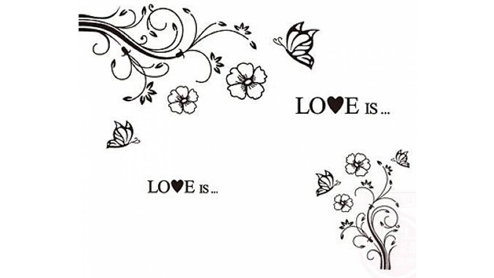 "Vinilo decorativo "" Love is ilustracion "" - Papel pared"