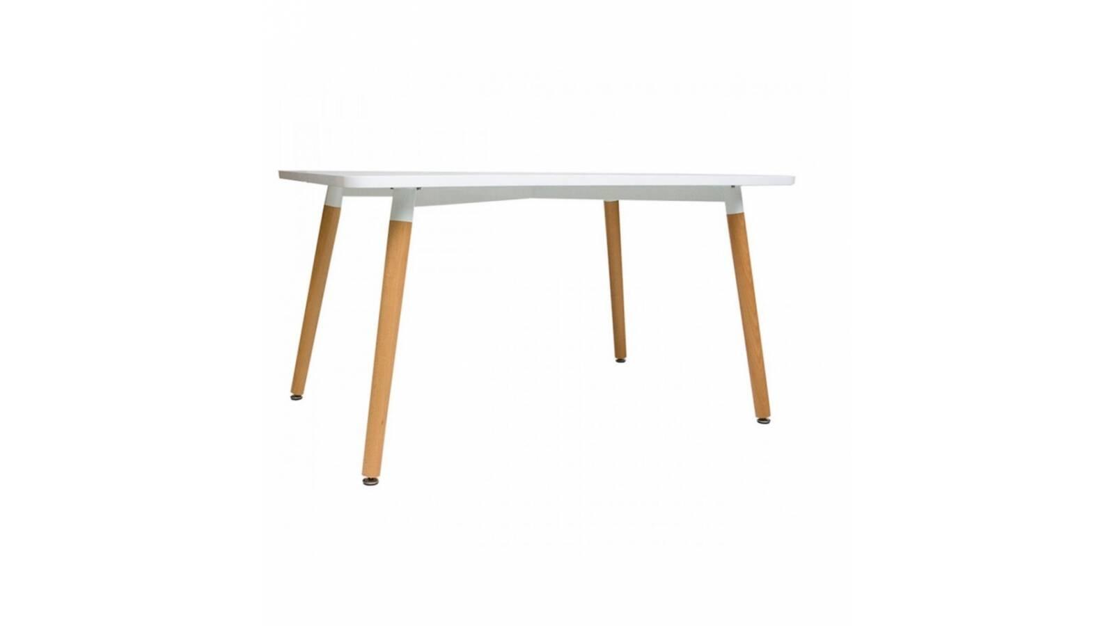 Mesa rectangular Eames con detalles