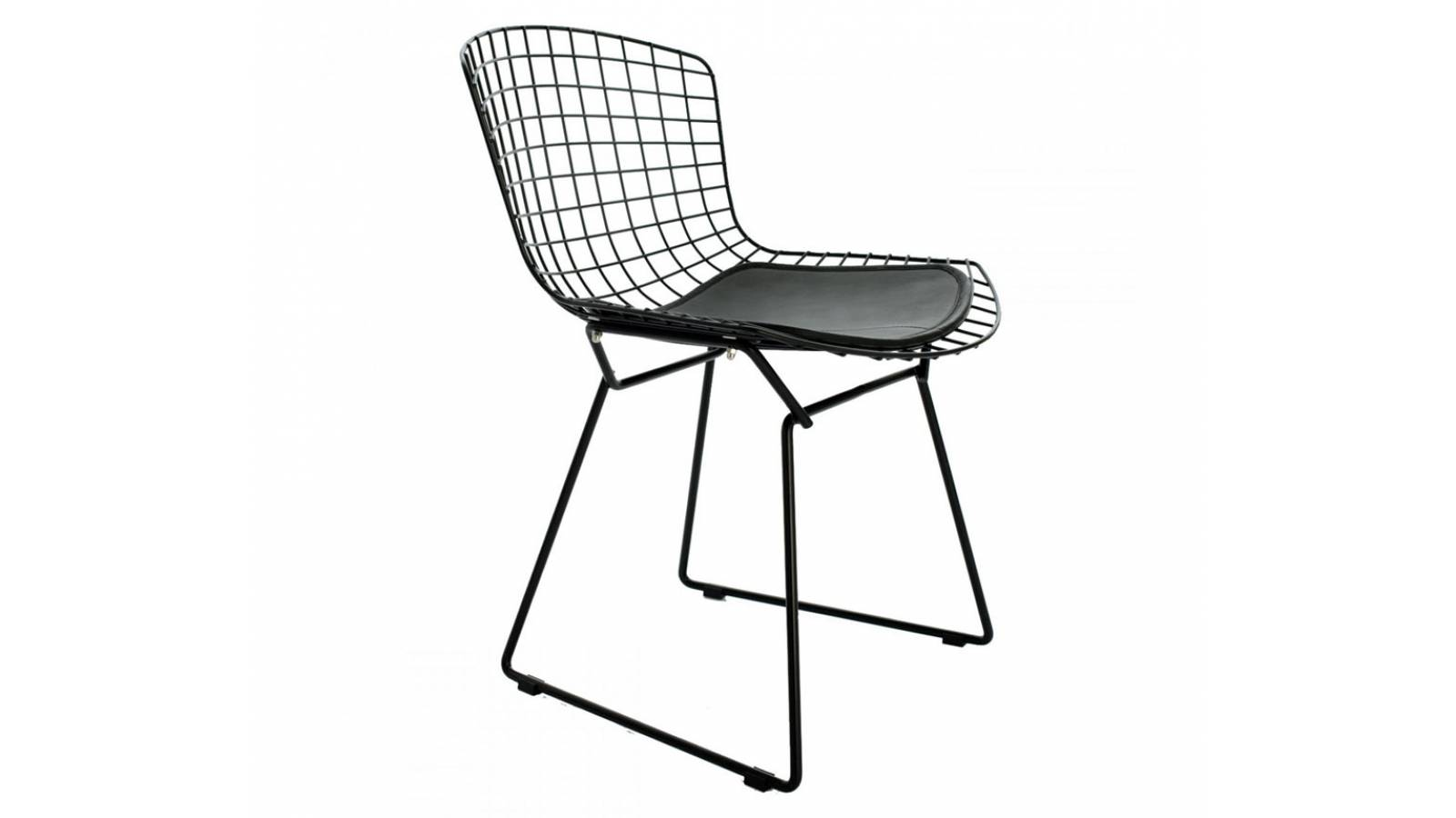 Silla Bertoia Negra - muebles comedor living