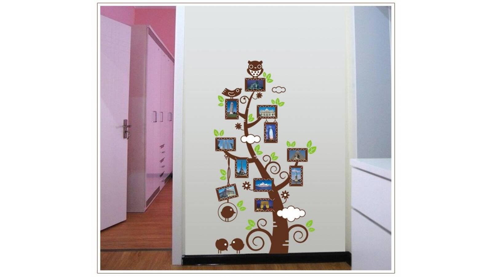 "Vinilo decorativo ""Arbol de fotos chico"" - Papel tapiz adhesivo pared"