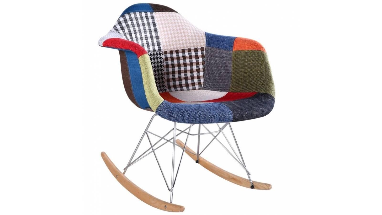 Silla mecedora Patchwork Eames