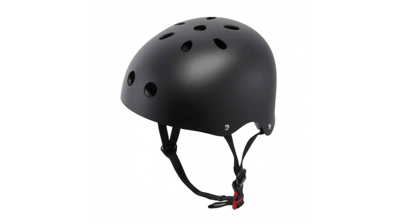 Casco profesional negro - proteccion skate bicicleta rollers