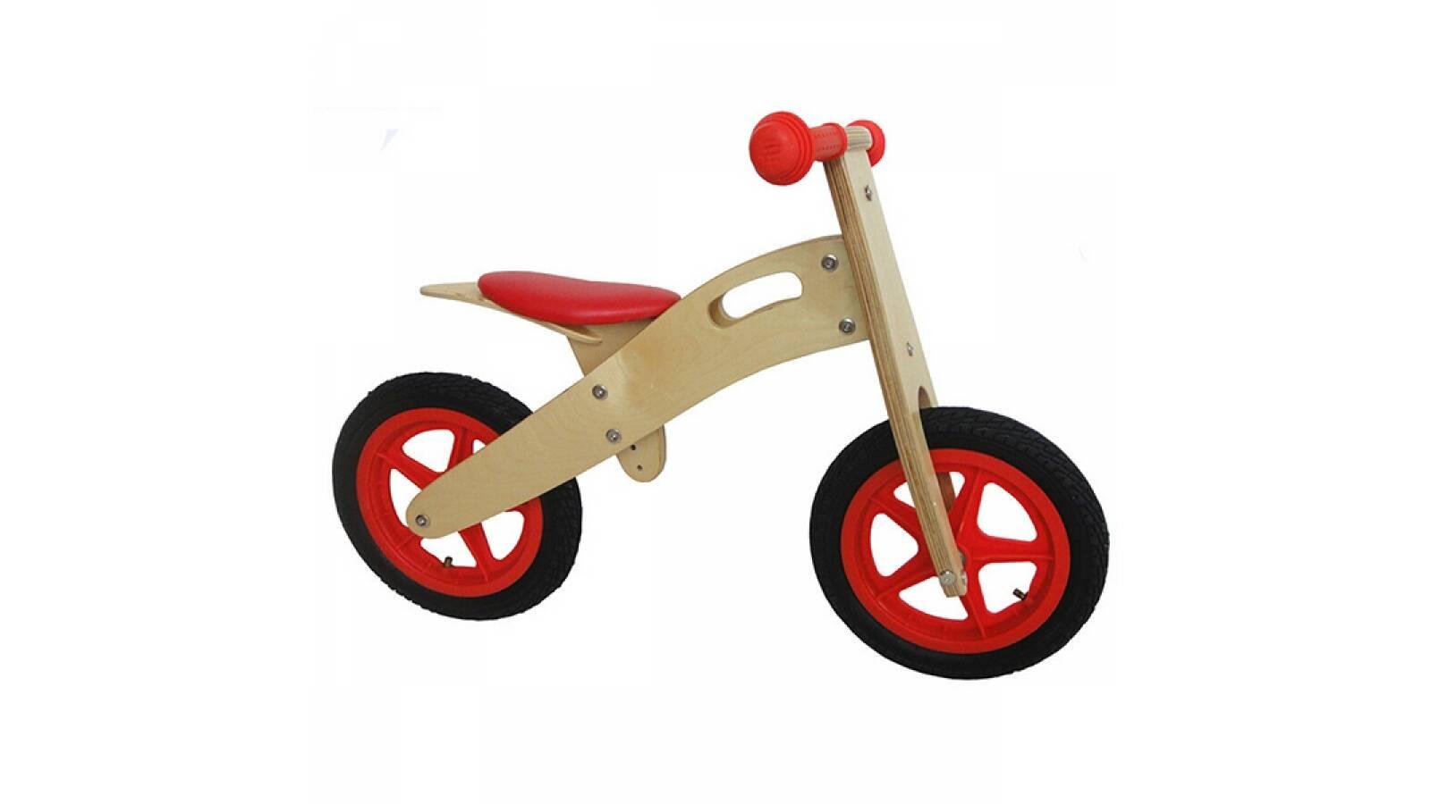 Bicicleta para niños de madera roja - sin pedales tipo chivita