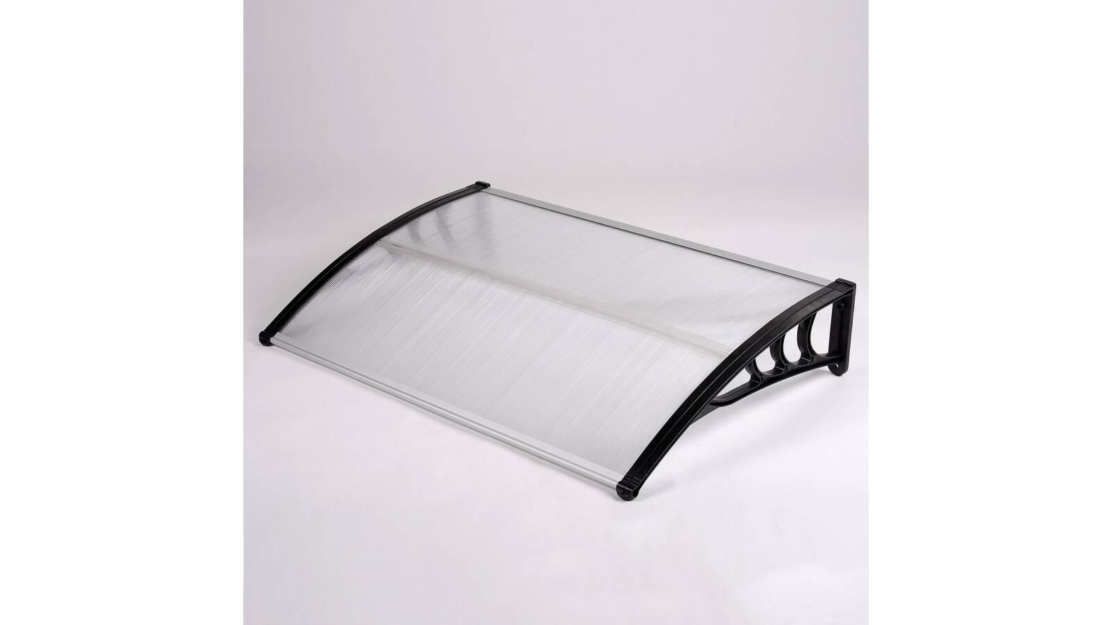 Alero de policarbonato transparente   1,2 x 0,8 m   puertas ventanas