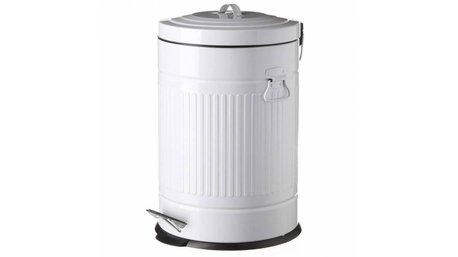 Tacho cesto de basura 20 litros retro blanco