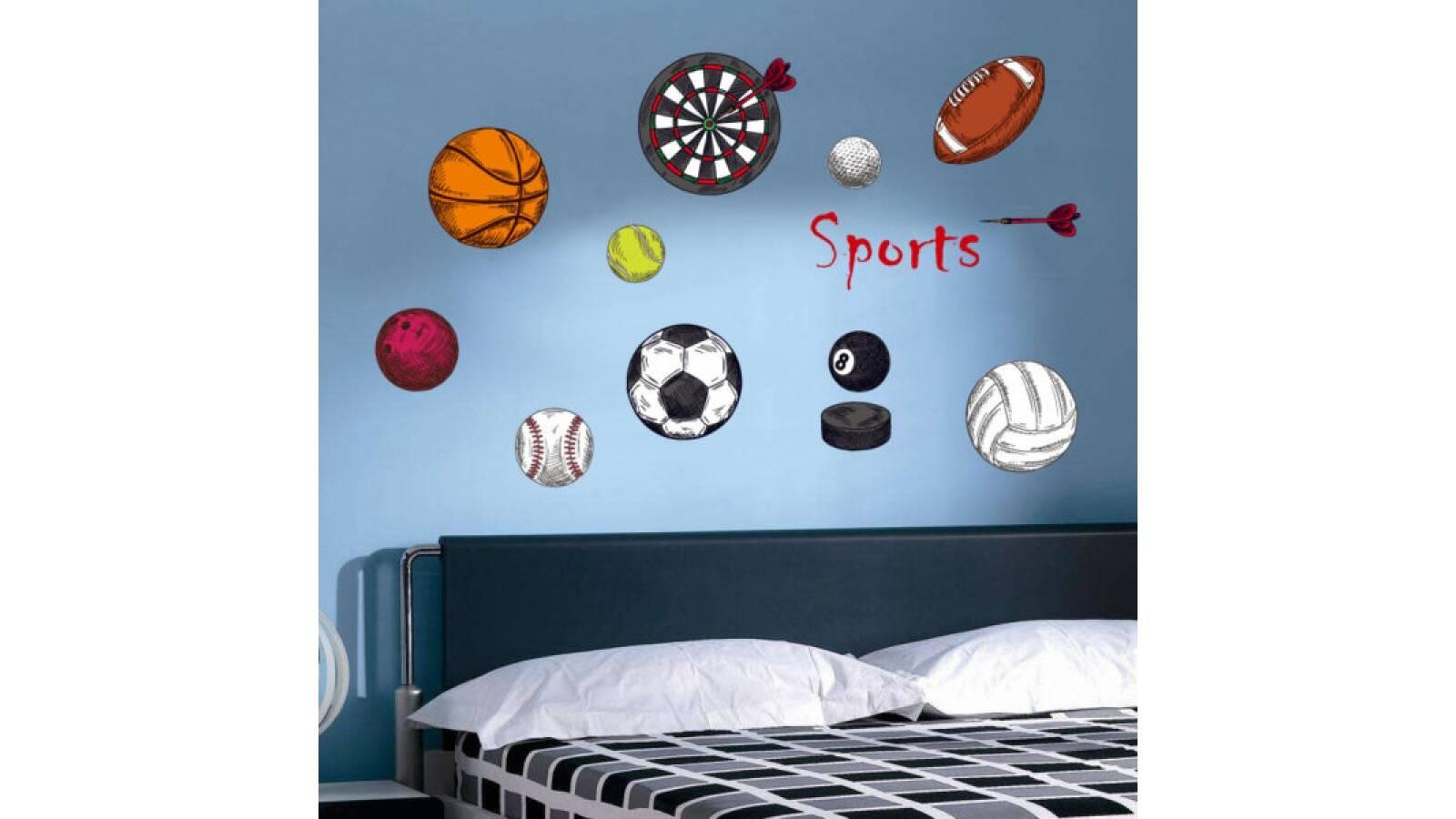Vinilo decorativo   Pelotas de futbol y otros deportes