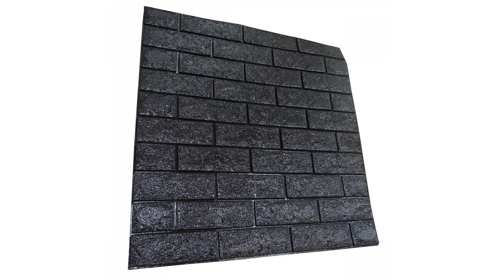 Revestimiento autodhesivo 3d Ladrillo Negro - Pared wallpaper papel tapiz