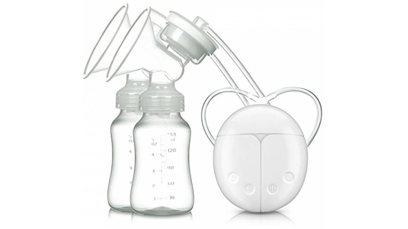 Sacaleche electrico ordeñador extractor doble mamadera leche materna