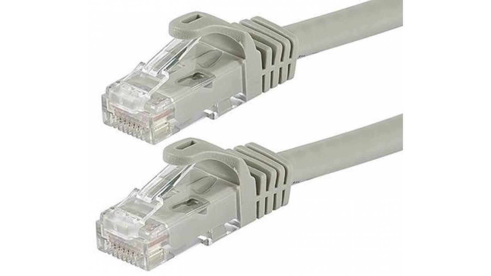 Cable de red 1m rj45 con fichas armado ethernet utp