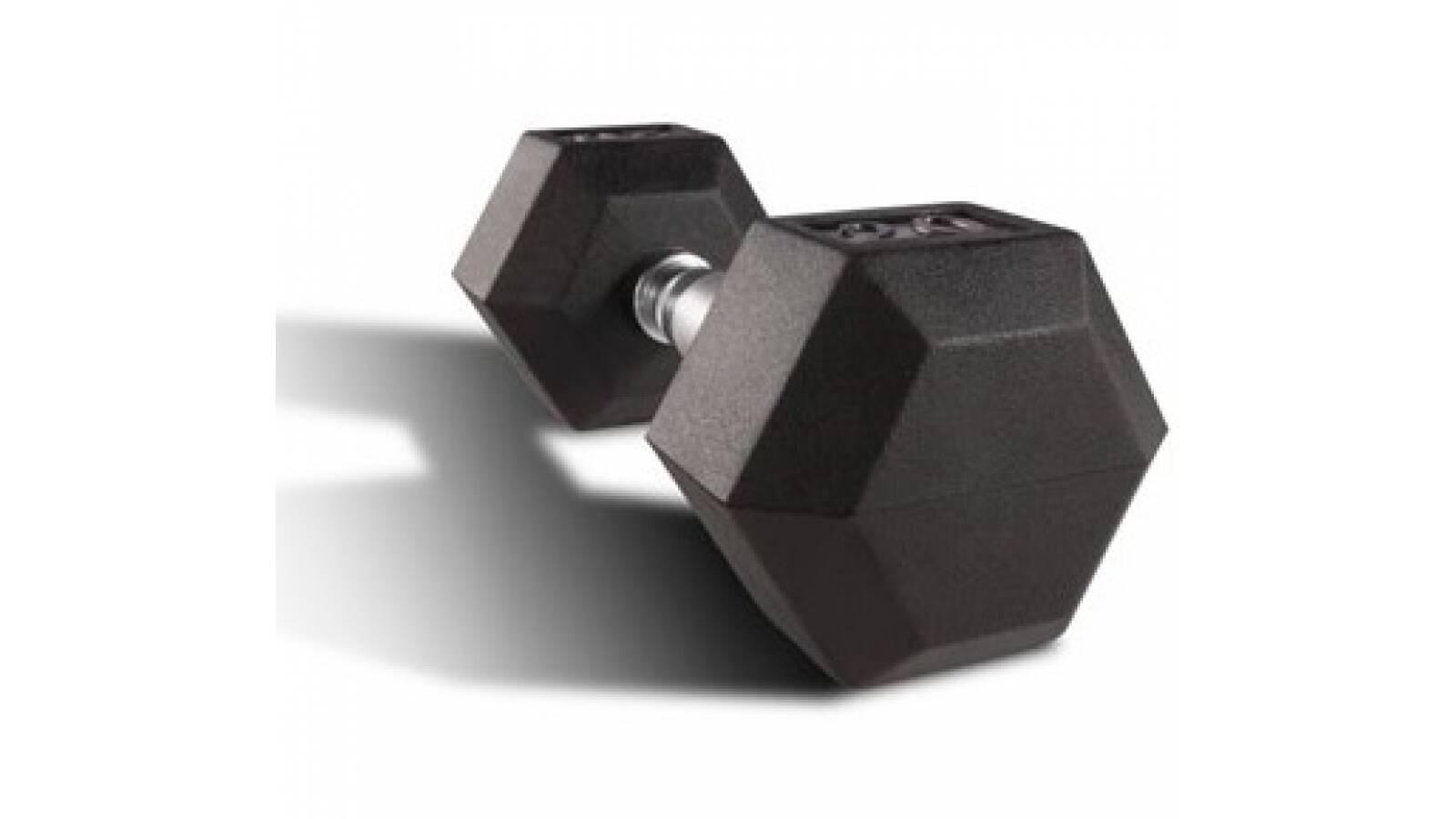 Mancuerna hexagonal fija de 25 kg - pesa pesas