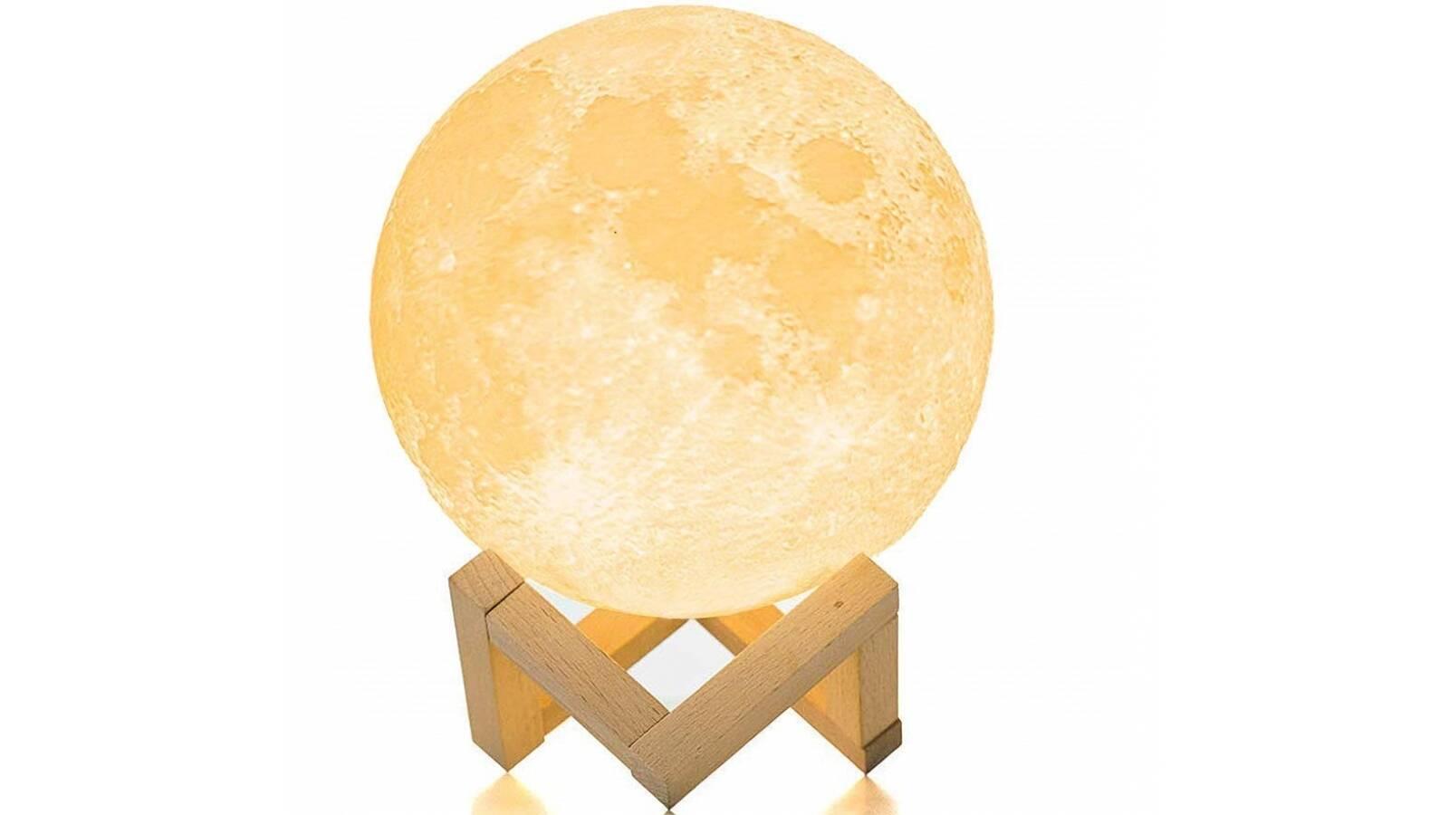 Lámpara Luna Led de 3 colores 20cm