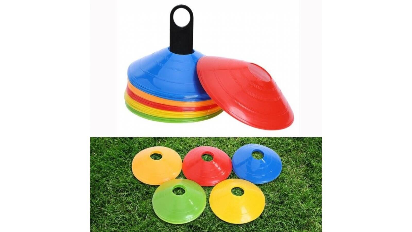 50 conos de entrenamiento multicolor - deportes gimnasia