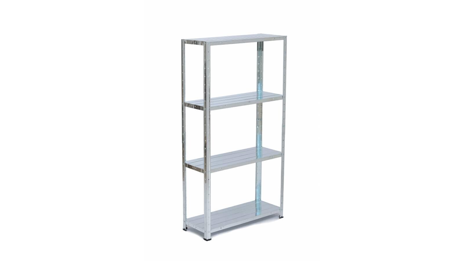 Estantería metálica baja - 4 estantes galvanizada