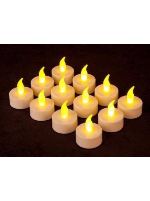 Velas electronicas LED a pila (set de 12)