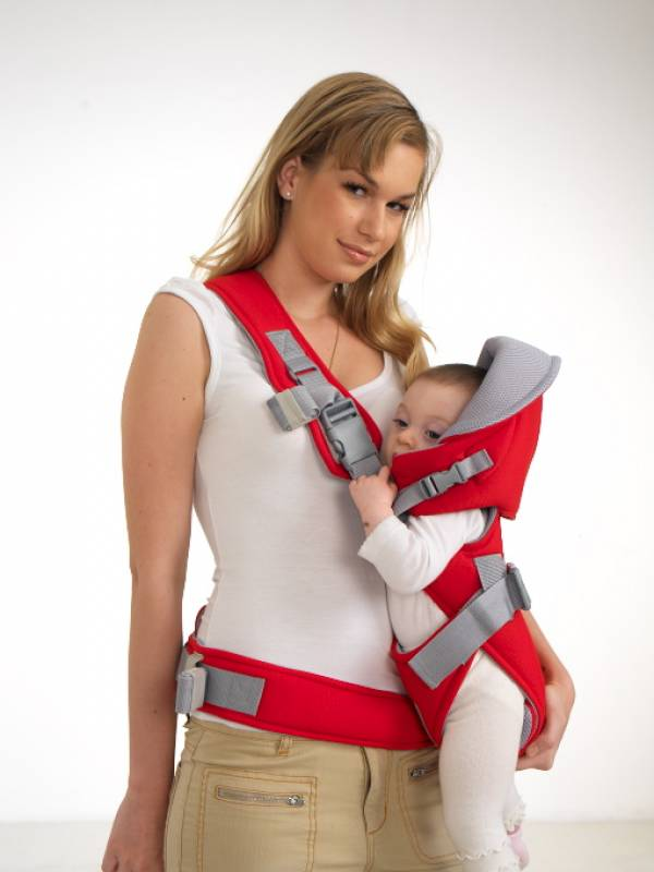 sillita mochila porta bebe child carrier AZUL o ROJA