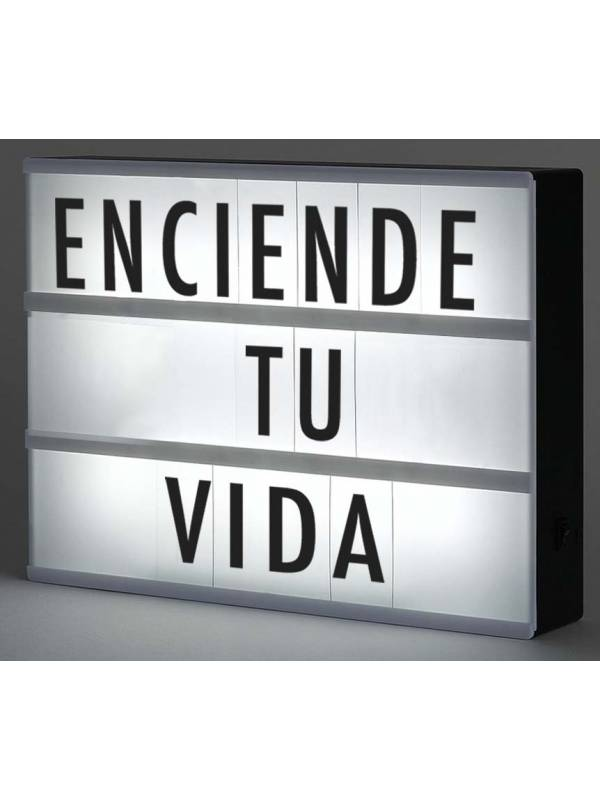 Cartel Luminoso Led - 85 Letras en negro