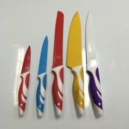 Set de 5 cuchillos de cocina en acero inoxidable