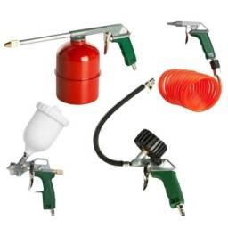 Kit Montana para compresores / 5 piezas (Pinta, sopla, infla y limpia)