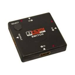 Switch (hub) para HDMI. 3 entradas hembra y una salida hembra - canalera