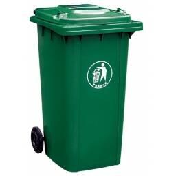 Tacho contenedor de basura verde 240lts