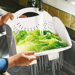 Colador plegable para pastas, verduras, frutas, etc.