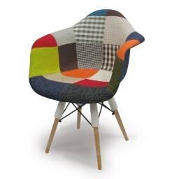 Silla Eames Patchwork con posabrazos