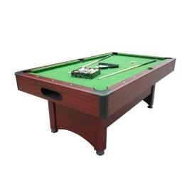 Mesa de pool con devolucion de bola, paño verde