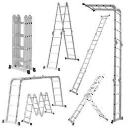 Escalera 4,60 m Multifuncion Combinada en aluminio - 16 Escalones andamio