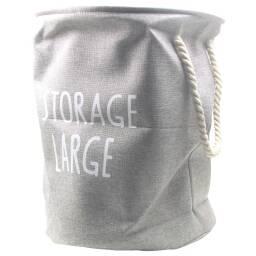 Canasto para ropa sucia en lino sintetico - Gris claro