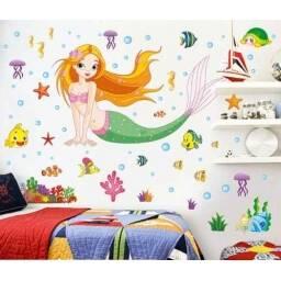 """Vinilo decorativo """" Sirenita """" - Papel tapiz adhesivo pared"""