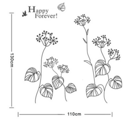 "Vinilo decorativo "" plantas Happy Forever "" - Papel pared"