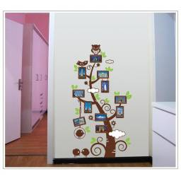 "Vinilo decorativo ""Arbol de fotos chico"" - Papel tapiz adhesivo pared"