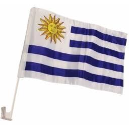 Bandera de Uruguay para auto 30 x 45 cm - Mundial futbol
