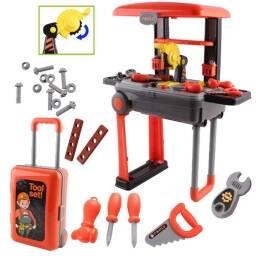 Set de  herramientas para niños taller mecanico - incluye valija
