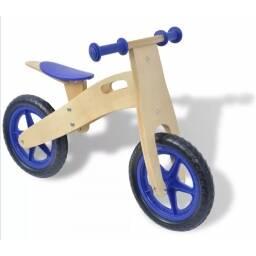Bicicleta para niños de madera azul - sin pedales tipo chivita