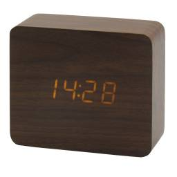 Reloj despertador con display digital - tono oscuro