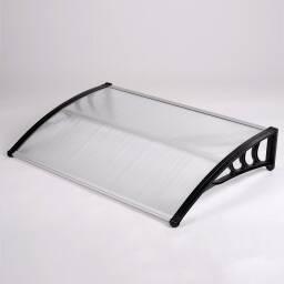 Alero de policarbonato transparente   1,5 x 0,8 m - toldos puerta