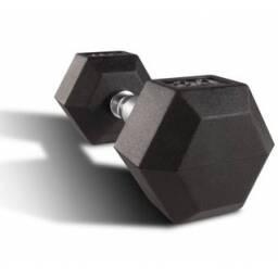 Mancuerna hexagonal fija de 20 kg - pesa pesas