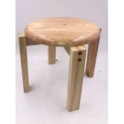 Banco silla madera apilable de niños - asiento banquito