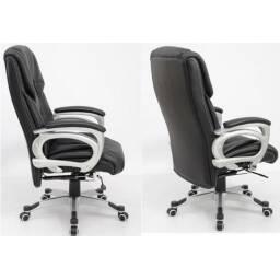 Sillon ejecutivo reclinable en eco cuero negro - escritorio