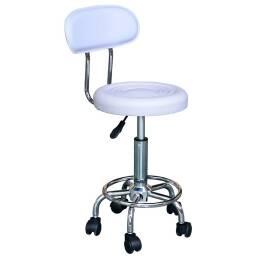 Asiento para cajera - taburete silla banqueta blanco