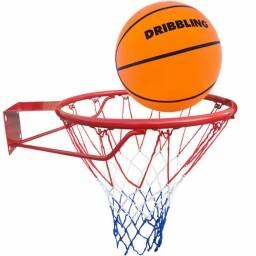 Aro de basketball + pelota + red profesional - juego basquetball jardin
