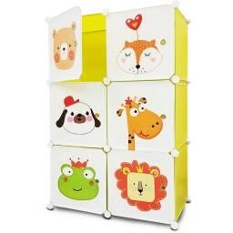 6 Modulos con diseño infantil - ropero comoda animalitos