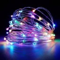 Luces Led de colores Navidad luciernagas Arroz - 9 metros
