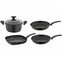 Juego de ollas negras Papilla - bateria cocina sarten