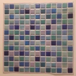 Revestimiento 3d mosaico azul autoadhesivo - Simil ceramica